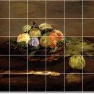Manet Fruit Vegetables Tiles Wall Bathroom Shower House Decor