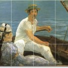 Manet Waterfront Tile Wall Murals Shower Modern House Remodeling
