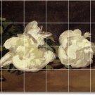 Manet Flowers Mural Room Floor Tiles Decorating Commercial Idea