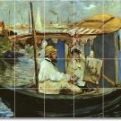 Manet Waterfront Tile Murals Shower Wall Modern Remodeling House