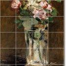 Manet Flowers Mural Room Tiles Floor Decorating Idea Commercial