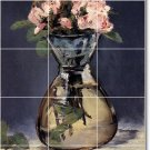 Manet Flowers Mural Floor Tiles Room Idea Decorating Commercial