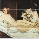 Manet Nudes Tile Mural Room Dining Interior Remodeling Decorate