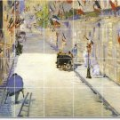 Manet City Kitchen Backsplash Mural Tile Design Home Renovation
