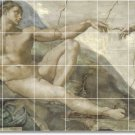 Michelangelo Nudes Mural Tiles Kitchen House Modern Remodeling