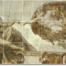 Michelangelo Religious Tile Bedroom Mural Modern Construction