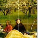Millais Mother Child Shower Tile Mural Home Decorate Traditional