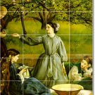 Millais Mother Child Mural Shower Tile Decorate Traditional Home