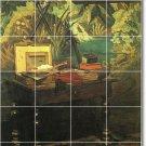 Monet Still Life Dining Murals Tile Room Wall Construction Ideas