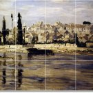 Monet Waterfront Tile Murals Dining Wall Room Home Ideas Remodel