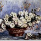 Monet Flowers Room Tiles Floor Living Design Interior Renovate