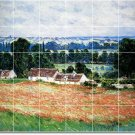 Monet Country Dining Tiles Mural Room Contemporary Renovations