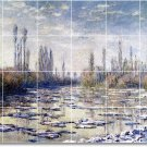Monet Waterfront Tile Murals Room Dining Wall Remodel Home Ideas