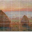 Monet Country Dining Room Tile Mural Decorating Ideas Interior