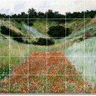 Monet Garden Backsplash Kitchen Mural Tile House Design Modern