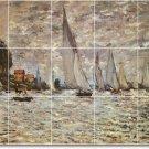 Monet Waterfront Shower Tile Murals Bathroom Decor Design Floor
