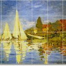 Monet Waterfront Shower Murals Tile Bathroom Residential Design