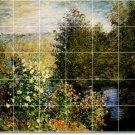 Monet Garden Backsplash Mural Kitchen Tile Design House Modern