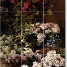 Monet Flowers Tile Mural Bathroom Shower House Design Renovate