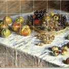 Monet Fruit Vegetables Tile Bathroom Mural Shower Modern Home