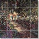 Monet Garden Backsplash Mural Tile Modern Interior Renovations