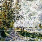 Monet Country Murals Wall Bathroom Design Idea Home Remodeling