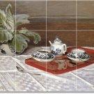 Monet Still Life Room Tile Wall Living Interior Renovation Idea
