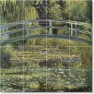 Monet Garden Mural Shower Wall Bathroom Modern Home Decorating