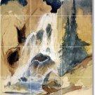 Moran Waterfalls Murals Wall Tile Room Interior Decorate Modern
