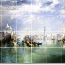 Moran Waterfront Backsplash Mural Tile Decorating Interior Idea