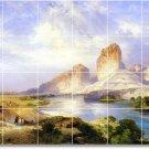 Moran Landscapes Mural Room Floor Tiles House Design Remodeling