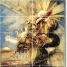 Moreau Mythology Tiles Dining Room Mural Residential Remodeling