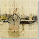 Morisot Waterfront Bathroom Shower Mural Wall Home Decor Decor