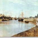 Morisot Waterfront Bathroom Mural Wall Shower Decor Decor Home