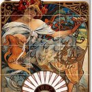 Mucha Poster Art Room Living Tiles Renovations Idea Design Home