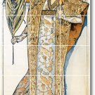 Mucha Poster Art Bathroom Tile Wall Home Remodeling Design Idea