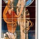Mucha Poster Art Mural Bathroom Tile Shower Home Renovate Ideas
