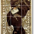 Mucha Poster Art Mural Tile Bathroom Shower Renovate Ideas Home