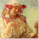 Mucha Women Wall Kitchen Mural Backsplash Tiles Modern Renovate