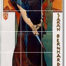 Mucha Poster Art Wall Kitchen Tiles Traditional Home Decorating