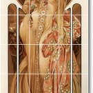 Mucha Poster Art Wall Tiles Kitchen Traditional Decorating Home