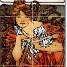 Mucha Poster Art Mural Kitchen Floor Decorate Construction Home