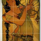 Mucha Poster Art Wall Room Tiles Mural Interior Idea Decorating