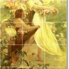 Mucha Poster Art Wall Mural Tiles Room Decorating Idea Interior