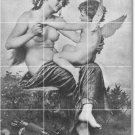 Perrault Illustration Shower Mural Tiles Bathroom Remodel House