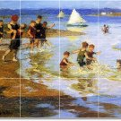 Potthast Waterfront Mural Dining Room Tiles Decor Remodel Floor