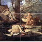 Poussin Mythology Tiles Mural Wall Room Renovations Home Design