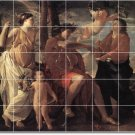 Poussin Historical Dining Tiles Room Mural Decor House Remodel