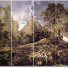 Poussin Landscapes Tile Room Mural Construction Ideas Interior