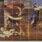 Poussin Religious Dining Room Mural Wall Tiles Remodel Interior